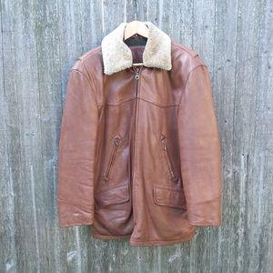 True Breed Men's Leather Coat